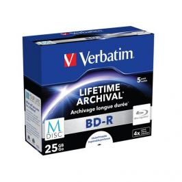 Verbatim Printable BD-R M-Disc 25GB, 4x, jewel box, 5ks (43823)
